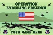 United States Personalized Coast Guard Flag- Enduring Freedom