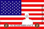 Remembrance Flag Design- U.S. Marine Corps
