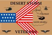 Desert Storm Remember Our Veterans Flag