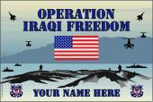 United States Personalized Coast Guard Flag-Iraqi Freedom
