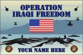 United States Personalized Marine Corps Flag-Iraqi Freedom