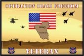 United States Coast Guard Flag- Iraqi Freedom Veteran