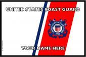 United States Personalized Coast Guard Flag