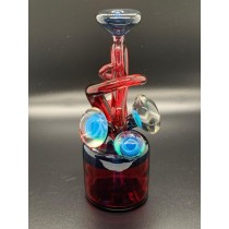 Cambria Glass Blue Stardust and Red Rig