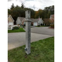 "7""x7""x8' Thermal/rock Lamp post"