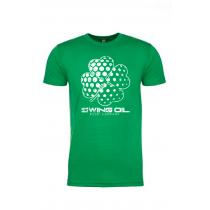 "Swing Oil Beer Company distressed ""Shamrock"" golf ball T-Shirt in Kelly Green"