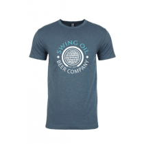 Swing Oil Beer Company golf ball logo T-Shirt in Indigo
