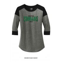 Ladie's MCM Fighting Cougars Raglan Sleeve Shirt