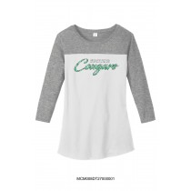 Ladie's Fighting Cougars 3/4 Quarter Sleeve Shirt