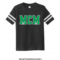 MCM Generic Toddler Football Black Tee