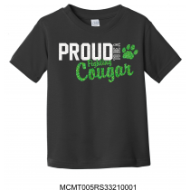 Glitter Proud To Be A Fighting Cougar Black Tee