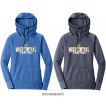 Ladies West Central Tri-Blend Pullover Hoodie