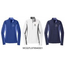 Ladies WC Trojans Sport-Tek Sport-Wick 1/2 Zip Pullover