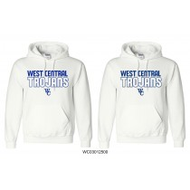 White Gildan West Central Trojans Pullover Hoodie