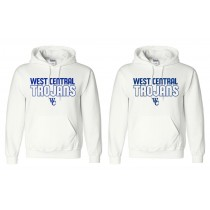White Gildan West Central Trojans Pullover Hoodie
