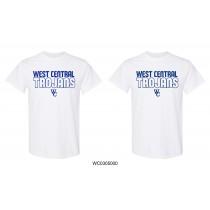 White Gildan West Central Trojans Short Sleeve