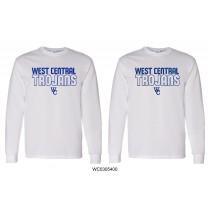 White Gildan West Central Trojans Long Sleeve - Regular