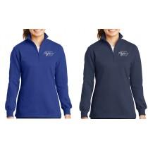 Ladies WC Trojans 1/4 Zip Sweatshirt