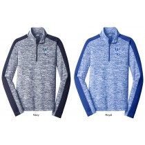 WC Trojans PosiCharge® Electric Heather Colorblock 1/4-Zip Pullover