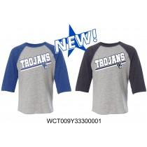 Toddler WC Trojans Baseball Tee Three-Quarter Sleeve - Regular